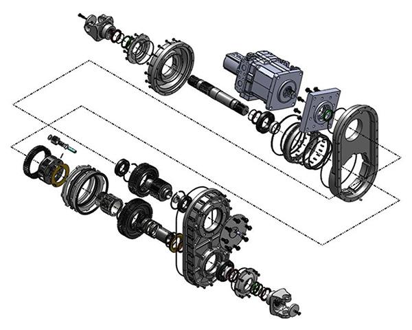 Czero | Hydraulic hybrid transmission