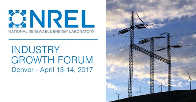 NREL Industry Growth Forum 2017 - news item
