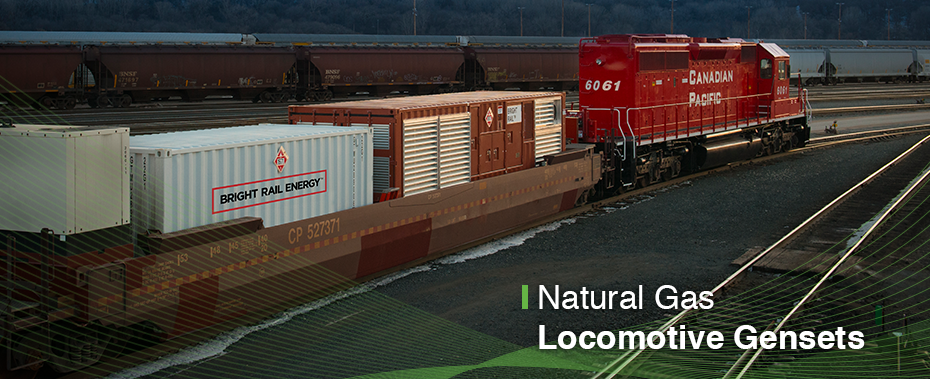 Natural Gas Locomotive Gensets